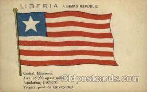 Flag, Flags Postcard Post Card Liberia Unused