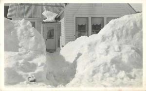 A House in a Lot of Snow, AGFA-ANSCO1930-40s Real Photo