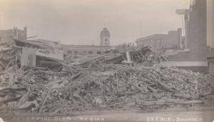 RP, REGINA, Saskatchewan, 1912; Telephone Building  After Cyclone
