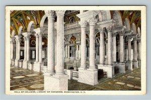 Hall Of Columns, Library Of Congress, Vintage Washington DC Postcard