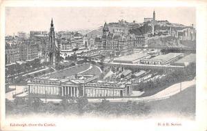 Scotland, UK Old Vintage Antique Post Card View from the castle Edinburgh Unused