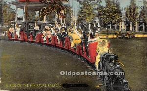 Postcard A Ride on the Miniature Railroad 1910