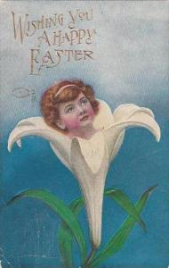 Easter Young Girl In Easter Lily 1910