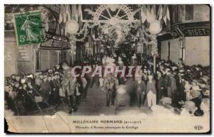 Old Postcard Millennium Normand heralds d & # 39Armes announcing the Cortege