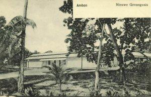 indonesia, MOLUCCAS MALUKU AMBON, New Prison (1899) Postcard