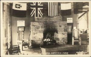 Rainier National Park Paradise Inn Interior Real Photo Postcard