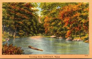 Maine Greetings From Lincoln