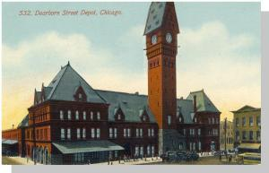 Early Chicago, Illinois/IL Postcard, Dearborn Street Depot