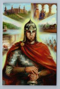 SLAVIC WARRIOR Rus Military Ethnic Folk Song of Wise Oleg Russian New Postcard