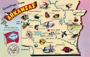 Greetings From Kansas With Map