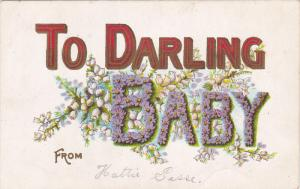 To Darling BABY , Flowers greeting , 00-10s
