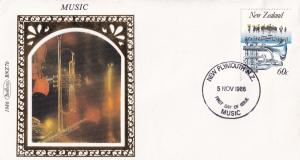 New Zealand Musical Instrument Trumpet Benham First Day Cover