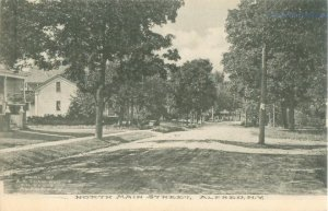 Alfred New York North Main Street, Houses B&W Postcard