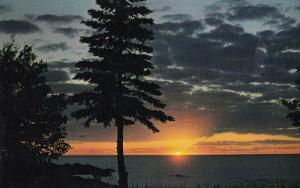 Simcoe Country Ontario at Sunset Canadian Postcard