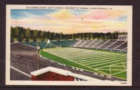 Virginia Post Card Scott Stadium University of Va