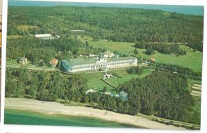 Grand Hotel Mackinac Island Michigan Aerial View 1961 L Gridley Photo Postcardr