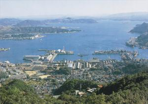 Bird's Eye View, Sasebo Bay, Sasebo, Nagasaki, Japan, 50´s-70´s