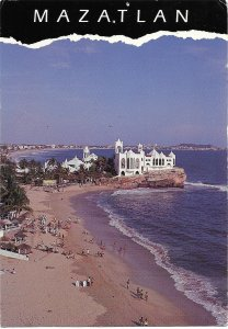 Mazatlan, Mexico. Beaches.  Used with postage.