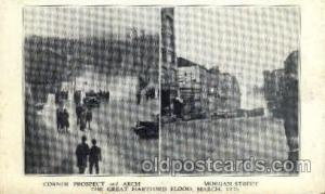 The great Hartford Conn. flood, March 1936Disaster Disasters, Postcard Post C...