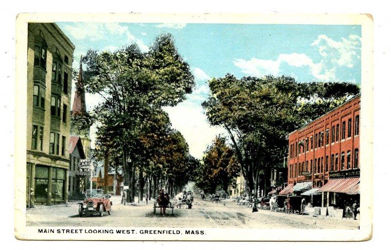 MA - Greenfield. Main Street looking West