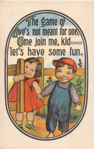 F12/ Baseball Sports Comic Postcard c1916 Elmore Ohio Ball Cap 14