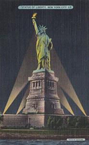 New York City Statue Of Liberty At Night