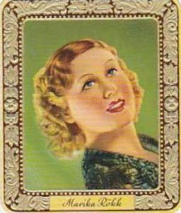 Aurelia German Vintage Cigarette Card Film Stars 1936 No 68 Marika Roekk
