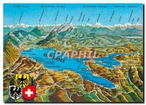 Postcard Modern Ber Bodensee uber dem meer