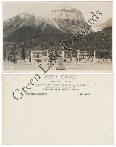 RPPC - The Great Divide - Banff National Park, Alberta