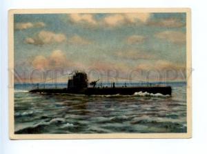 167562 Soviet SUBMARINE by VORONTSOV postcard 1949 year