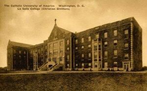 DC - Washington. Catholic Univ. of America. LaSalle College (Christian Brothers)