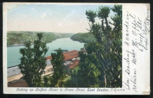 dc1843 - SOUTH AFRICA East London Postcard 1906 Buffalo River to Green Point