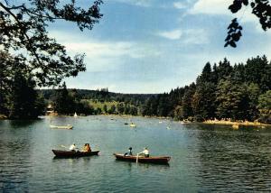 Ebnisee Schwabischer Wald Lake Boats Panorama Postcard