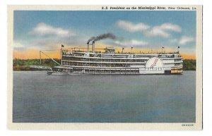 S S President Steamer on Mississippi River New Orleans Louisiana