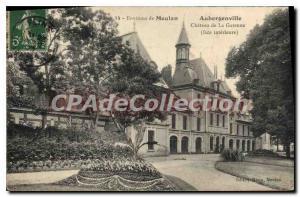 Old Postcard About Aubergenville Meulan Chateau de la Garenne (inner side)
