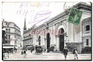 Old Postcard Aix les Bains Etablissement Thermal
