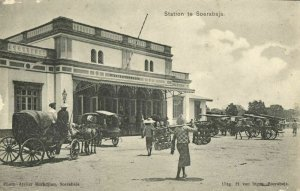 indonesia, JAVA SOERABAIA, Railway Station (1910s) Postcard (1)