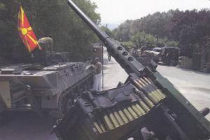 Army Soldiers Driving Tanks w/ Machine Guns in Convoy, PC #19
