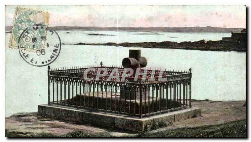 Postcard Old Saint Malo The tomb of Chateaubriand