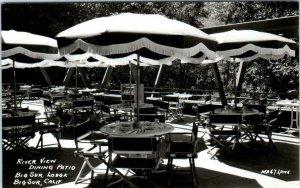 RPPC  BIG SUR, California ~ BIG SUR LODGE River View Dining Patio Laws Postcard