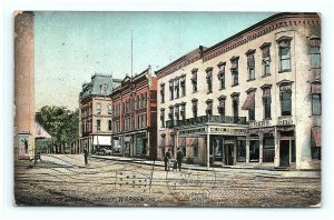 Postcard PA Warren Looking up Liberty Street 1909 View New Struthers G13