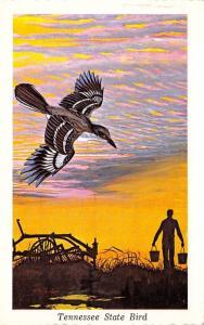 Tennessee State Flower~Mocking Bird~Farmer w/ Buckets~Twilight~1968 Ken Haag