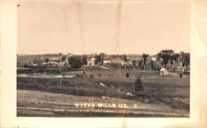 Weeks Mills ME Early Town View RPPC Postcard