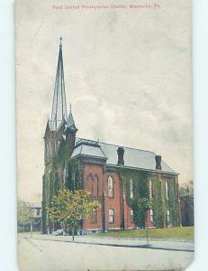 Divided-Back CHURCH SCENE Blairsville Pennsylvania PA A9684