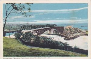 Bridges Over Reversing Falls, St. John, New Brunswick, Canada, PU-1955