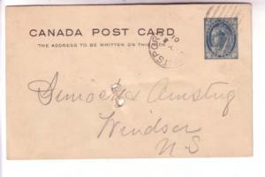 1901 CDS Cork Cancel,  Hantsport, NS, Victoria Postal Stationery, Canada