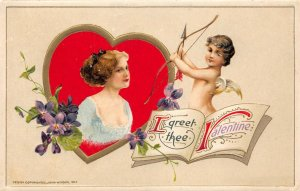 LP25 Valentine's Day Postcard Winsch Publisher I Greet Thee