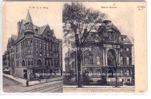 Y.M.C.A. Bldg & Balliol School, Utica NY