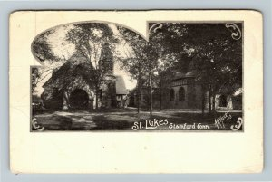 Stamford CT-Connecticut, St. Lukes Church, Bell Tower, Vintage Postcard