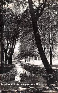 Back Park Clifton Springs NY 1908